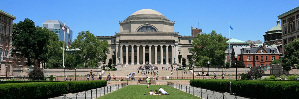 Outside_Columbia_University_Library_(5892425145)